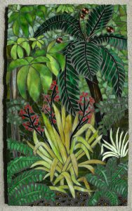 Sharon Carroll glass mosaic native forest