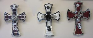 Sharon Carroll glass mosaic cross